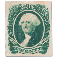 1863 20 Cent Stamp #13 Confederate States of America