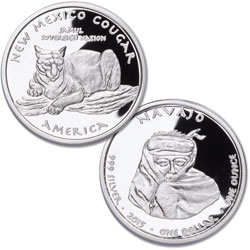 2015 Jamul Nation New Mexico Navajo & Cougar Silver Dollar