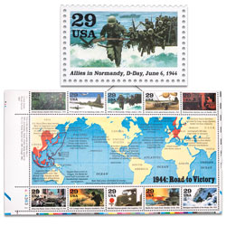 "1994 ""1944: Road to Victory"" Stamp Sheet"