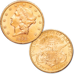 1877-1907 $20 Liberty Head Gold Double Eagle