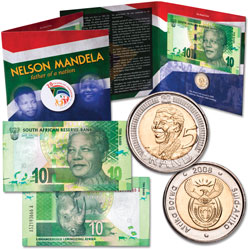 Nelson Mandela Coin & Note Set