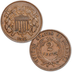 1864-1872 Two Cent Piece