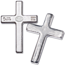 5 oz. Hand-Poured Silver Cross