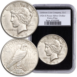 1926-S Peace Dollar in Deluxe Holder