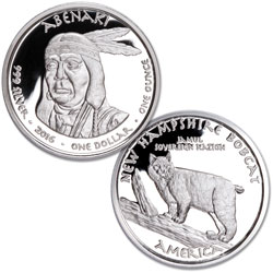 2016 Jamul Nation Abenaki & Bobcat Silver Dollar