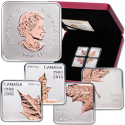 2018 Canada Silver Maple Leaf Quartet