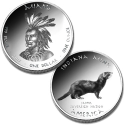 2017 Jamul Nation Miami & Mink Silver Dollar