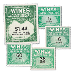 Wine Revenue Stamp Set