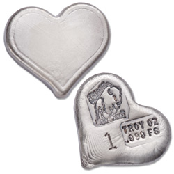 1 oz. Hand Poured Silver Heart