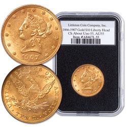 1866-1907 Liberty Head $10 Gold Eagle