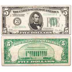 1928 $5 Federal Reserve Note