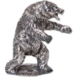12 oz. Sterling Silver Grizzly Bear