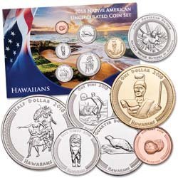 2018 Jamul Indian Coin Set - Native Hawaiians