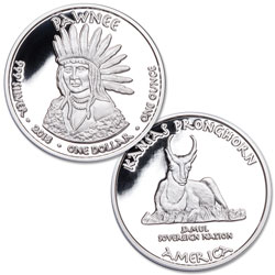 2018 Jamul Nation Pawnee & Pronghorn Silver Dollar
