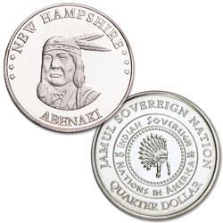 2018 Abenaki Native American Quarter