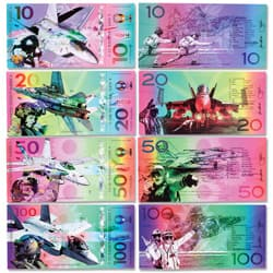 Colorful U.S. Fighter Jets Polymer Notes