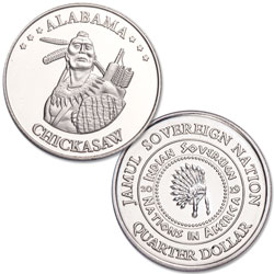 2019 Chickasaw Native American Quarter