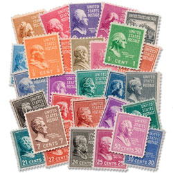 1938 Presidential Stamp Set