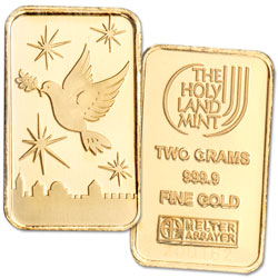 2 gram Gold Bar - Dove of Peace