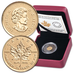 2018 Canada 1/2 Gram Gold Maple Leaf