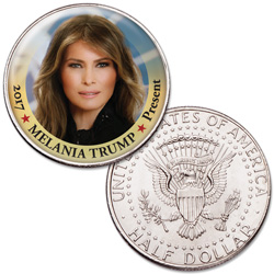 Colorized First Spouses of America Half Dollar - Melania Trump