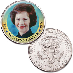Colorized First Spouses of America Half Dollar - Rosalynn Carter
