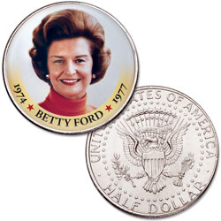 Colorized First Spouses of America Half Dollar - Betty Ford