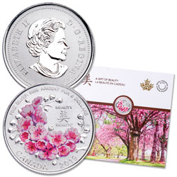 2019 Canada 1/4 oz. Silver $8 Cherry Blossoms