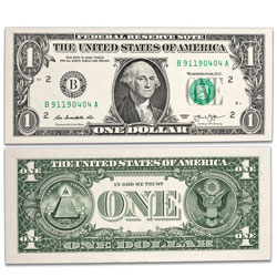 2013 $1 Federal Reserve Note with 911 Serial Number