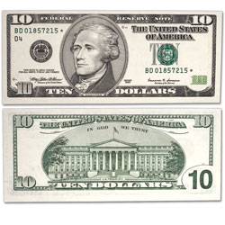 1999 $10 Federal Reserve Star Note