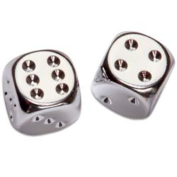 Pair of Silver-Plated Dice