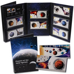 Solar System Silver Note Set