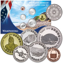 2021 Jamul Indian Coin Set - Wampanoag