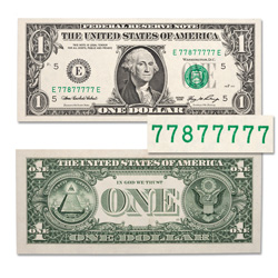 7 of a Kind $1 Federal Reserve Note
