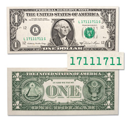 Binary Repeater $1 Federal Reserve Note