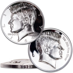 Kennedy Curved 1 oz. Silver Round