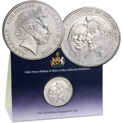 2010 Alderney £5 Royal Engagement Coin