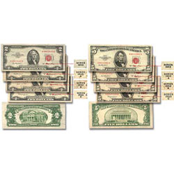1953-1953C Complete Series $2 & $5 Legal Tender Note Set