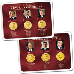 """Golden"" Colorized Living Presidents Sets in Showpaks"