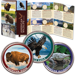American Wildlife Series Custom Folder and Three Coins