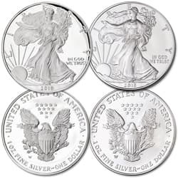 2018-W Burnished & Proof Silver American Eagles