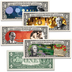 Colorized U.S. Innovation $1 Federal Reserve Note Set