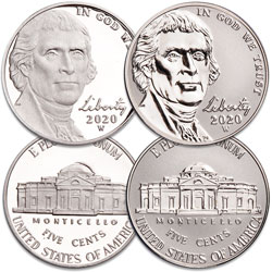 2020-W Jefferson Nickel Set