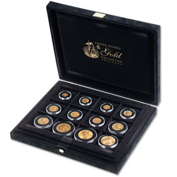 United States Gold Type Coins Presentation Case