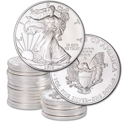 2019 Ten $1 Silver American Eagles