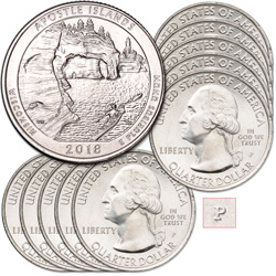 2018-P Ten Apostle Islands National Lakeshore Quarters