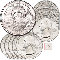2018-D Ten Apostle Islands National Lakeshore Quarters