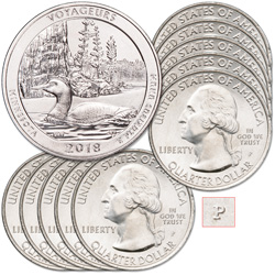 2018-P Ten Voyageurs National Park Quarters