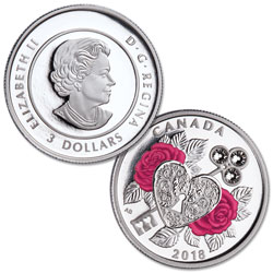2018 Canada Silver $3 Celebration of Love