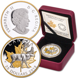 2018 Canada Silver & Gold-Plated $25 Caribou